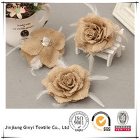 ECO-FRIENDLY JUTE flower for party, christmas, wedding or home decoration