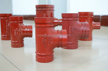 cast iron valves fittings grooved fittings tee China supplier