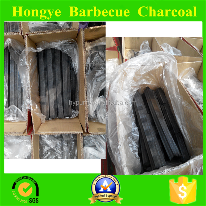 Best -selling restaurant barbecue charcoal in middle east coutries/ high hardness smokess High-Tempature machine-made charcoal