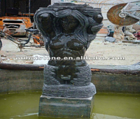 Outdoor Decorative Stone Black Marble Sculptures