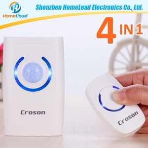 150m long range commercial hotel safe smart motion sensor wireless doorbell system