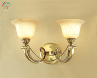 antique brass marble wall light for home