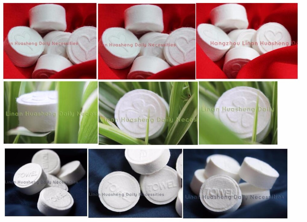 Restaurant Magic Compressed Towel Coin Tissue / Tablet Compressed Napkin HS5333