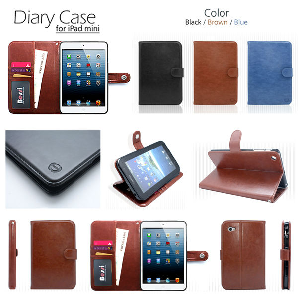 Pad mini leather diary case