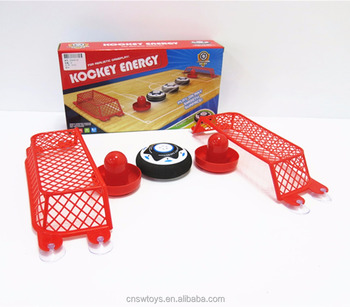 Hot cheap battery operated toy air hover ball toy ice hockey set for kids play game