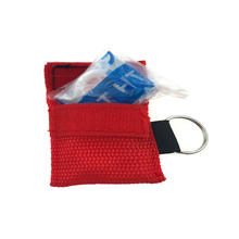 medical science disposable rescue cpr mask keychain with one-way valve