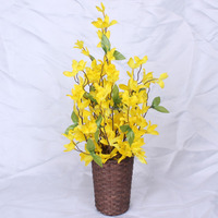 2016 New Style Artificial white gladiolus flowers /Outdoor artificial plastic flowers /Natural looking artificial flowers