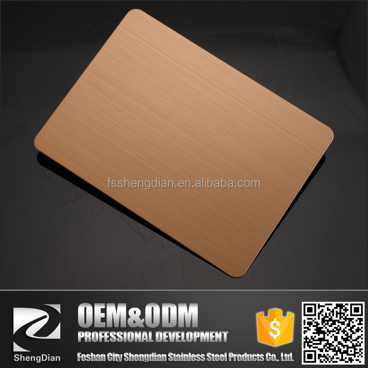 Wholesale Cheap Prices Hairline Polished 1mm Thick Rose Gold Color 304 Stainless Steel Sheet