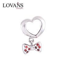 Bulk Charms Wholesale 925 Silver Heart Pendant Dangle Charms YZ143