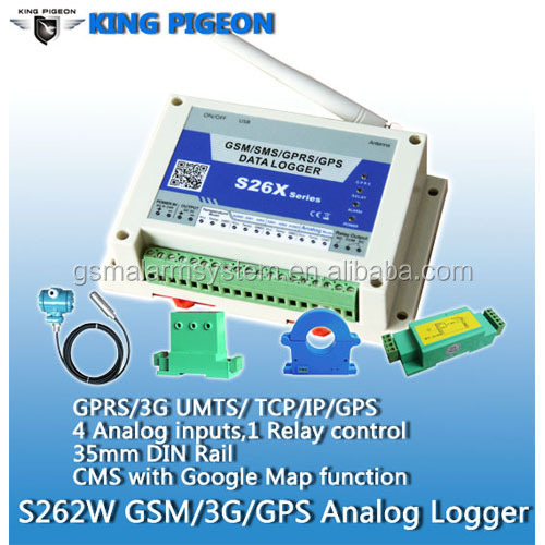 GSM SMS 3G Analog Data Logger GPRS GPS Alarm System S262