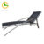 Outdoor Rattan Furniture balcony beach garden Wicker Aluminum Frame Sun Bed black cloth Pool Lounge Chair