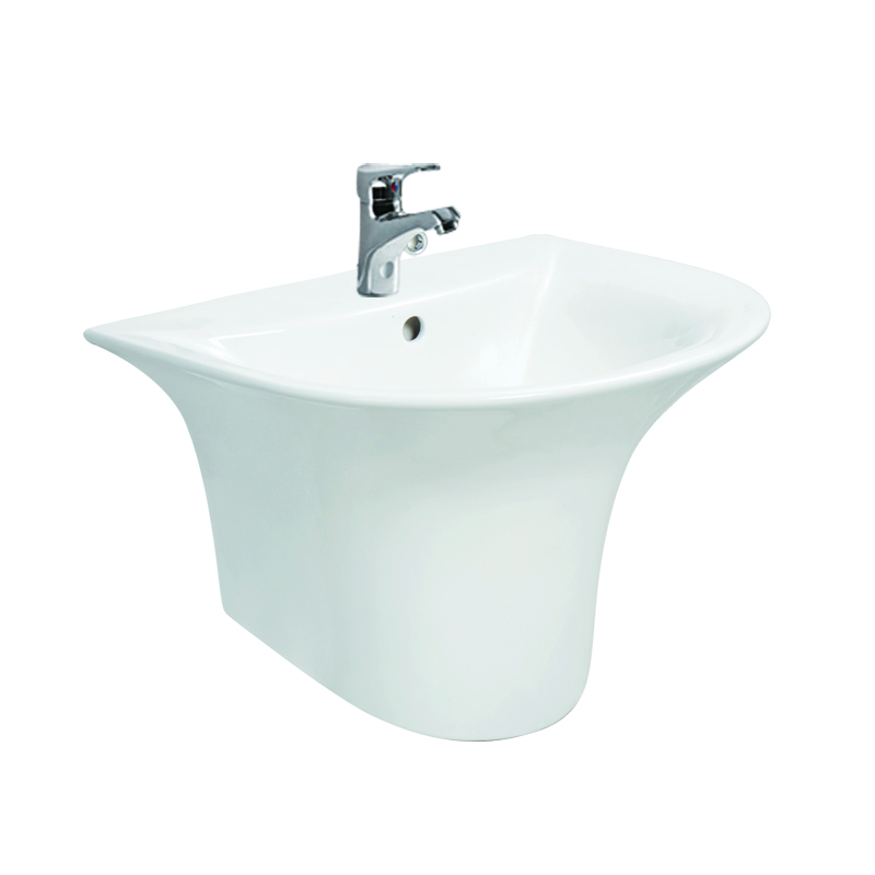 Bathroom sanitary ware popular wall hung lavatory sink