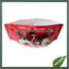 NY material laminated custom dog bowl shape plastic bag with zipper