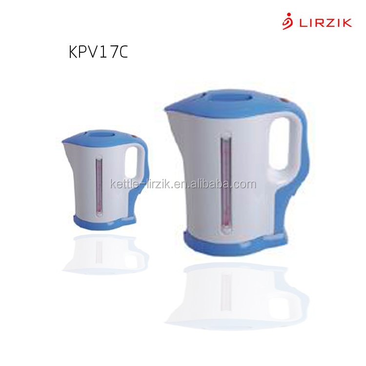 Common cordless kettle KPV17C 1.8L plastic housing kitchen appliance stainless steel automatic electric kettle made in Foshan