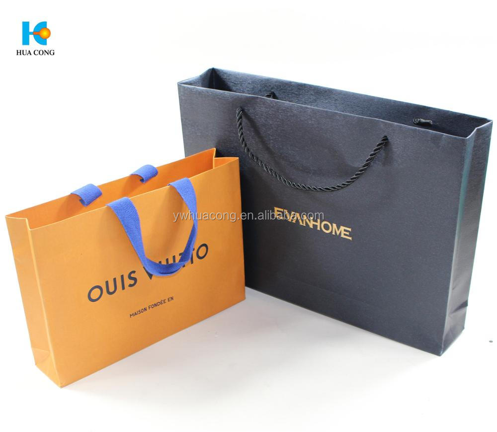 custom printed cheap recycled christmas gift craft brown shopping packaging kraft paper bag supplier with handle