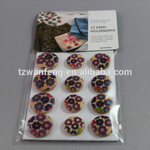 wanfeng New Design Wood Button lace underwear sets colorful wooden buttons bulk