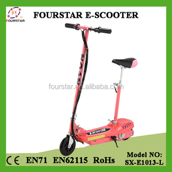 Kids Ride on Toy Electric E Scooter 120W with Detachable Seat