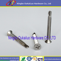 Self Drilling Screw carbon and stainless Fine thread Phillips Head Blue zinc Galvanized Self drilling screws from Yuyao factory