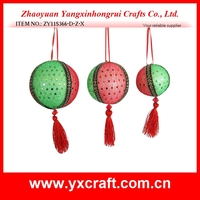 Fabric handmade Round Tree Hanging Balls Xmas Decoration