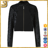 BLACK cropped woman jacket