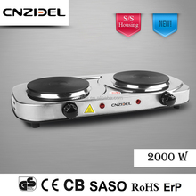 Cnzidel New 2 burner electric cast iron solid hot plate