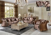 New model fashional comfortable metal frame fabric sofa set S076