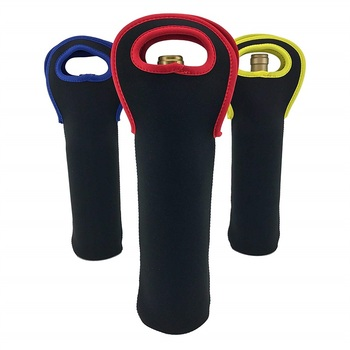 Reusable Neoprene Wine Bottle Protective Sleeve Wine Cooler Tote Bag