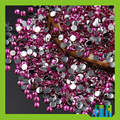 sparkling pink silver flatback style Non hot-fix technics epoxy resin rhinestone in bulk packing