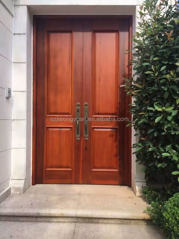 American solid wood main gate door design buy main gate for Wooden main gate design