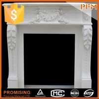 natural well polished beautiful decorative figure marble fireplace surround with grape