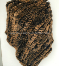 New fashion rabbit fur knitted shawl