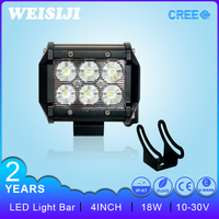 "Shenzhen supplier best car accessories 4"" 9-32v 18W led light bar for atv,suv,trucks offroad"