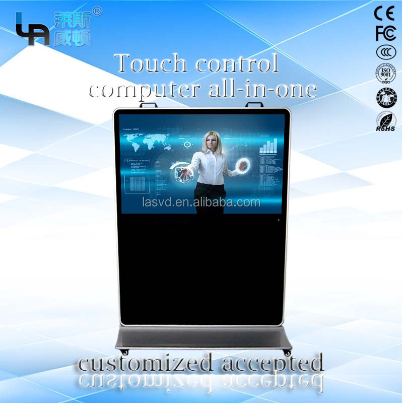 OEM/ODM 65 Inch 4K Ultra HD 120Hz Smart 3D LED TV Infrared Vertical Wideness Touch Screen Kiosk All-in-one PC