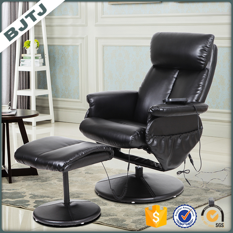 BJTJ recliner massage series chair with special heat mechanism and free comfortable ottoman 70181PA