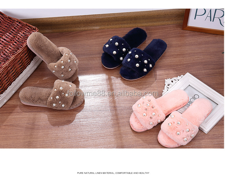 Super Quality Cross Vamp Australia Wool Shearling Fur Slide Slippers Rubber Sole Outdoor For Women