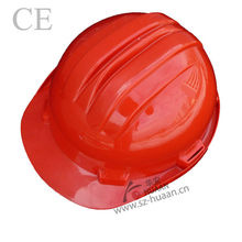 PE material anti impact red safety helmet 3M