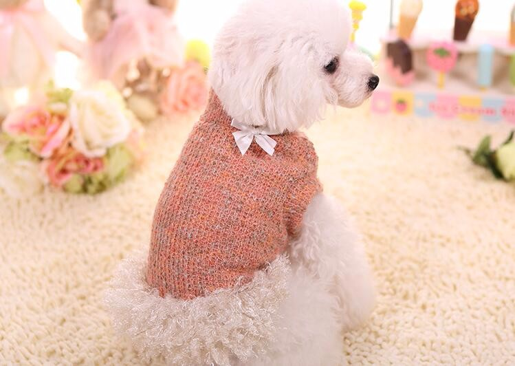 Pet Sweater for Small s Beauty High-necked Sweater Red Yellow Blue Color Xs-xl Size Sweaters Warm Coats for Pet Hond