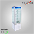 Four glass upright chilling display cooler with fan cooling