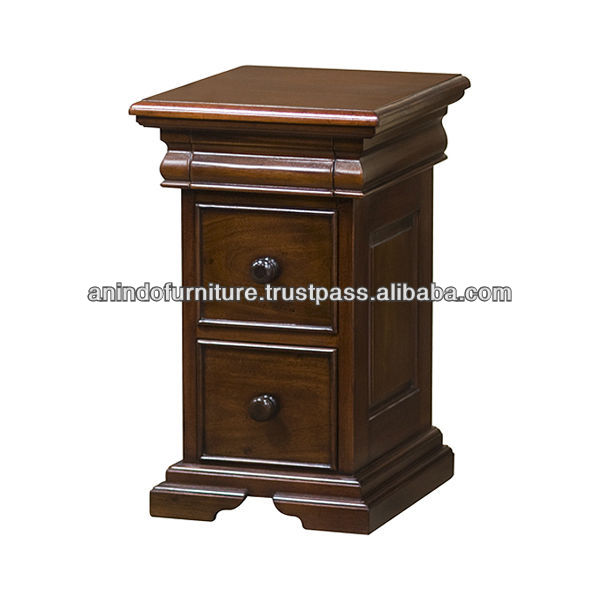 Mahogany Small Sleigh Bedside Table