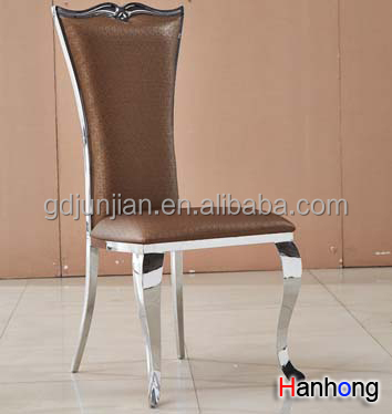 Modern style stainless steel dining table and chair for restaurant or bar XYN4119