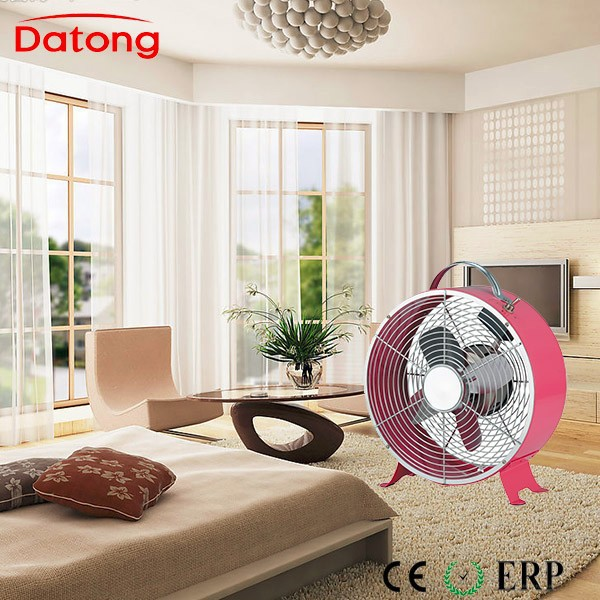 Pink color 8inch metal box fan with European approvals