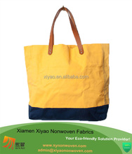 custom two color shopping high quality canvas tote bags wholesale