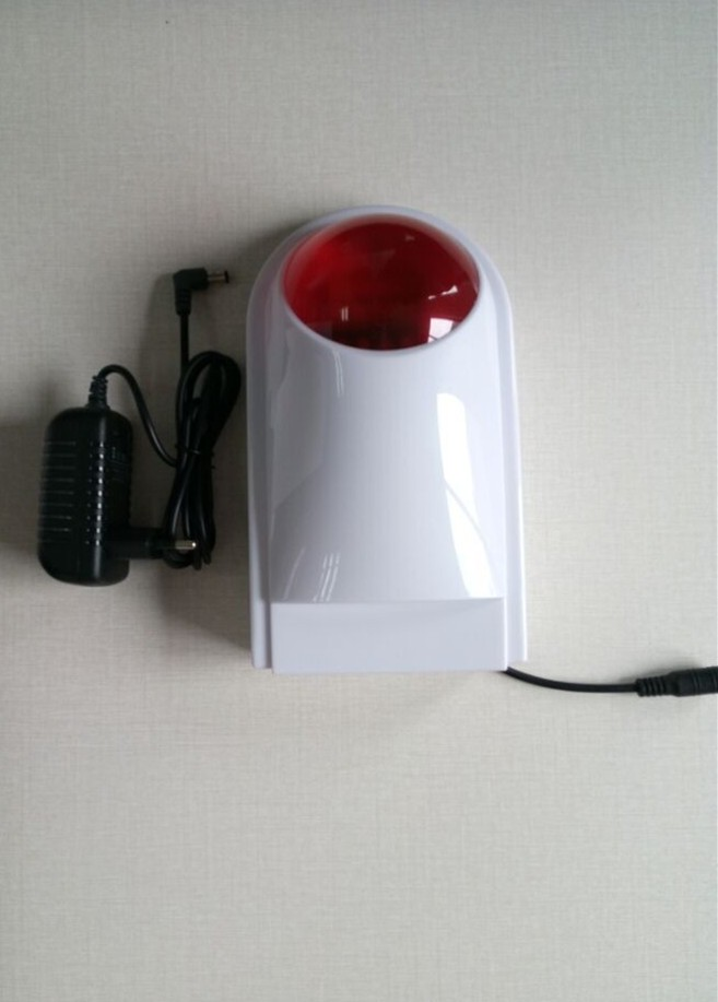 Wireless outdoor strobe siren with flash light and 120db