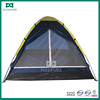 Cheap Custom unique blue outdoor camping dome tent with yellow roof