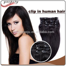 100% Unprocessed Remy human hair full head heat resistant clip in malaysian hair extensions