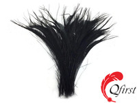 Top selling plumes crafts bleached black natural peacock swords cut feather for sale