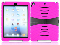Drop shockproof stand armor case for iPad Air iPad 5 back rubber skin