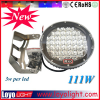 heavy duty LED utility lamp 9 inch IP67 off road led work lamp,111w car led driving light