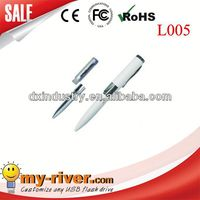 hot sell beautiful metal led pen usb with any capacity