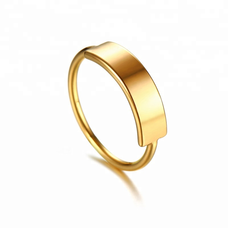 New Design Simple Fashion 2 Gram Gold Stainless Steel <strong>Ring</strong> Women